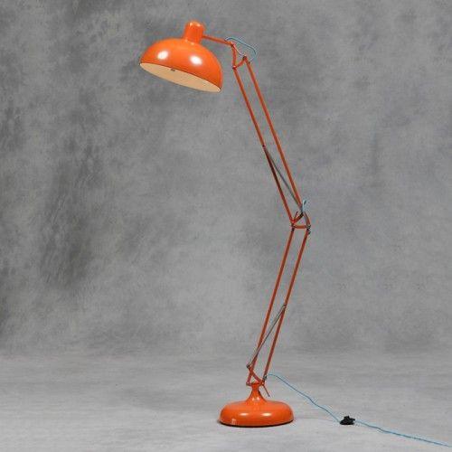 Awesome Standing Desk Lamp Floor In Orange