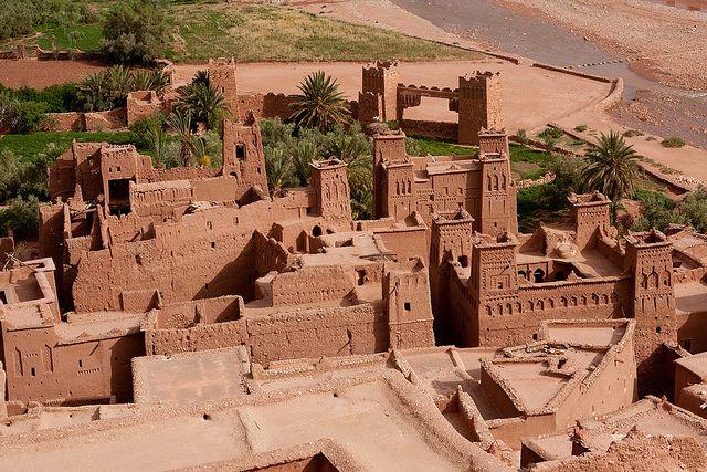 Ksar of Ait-Ben-Haddou, Aït Benhaddou (Ath Benhadu, آيت بن حدّو), Souss-Massa-Draâ, Asif Ounila, Maroc (Morocco)