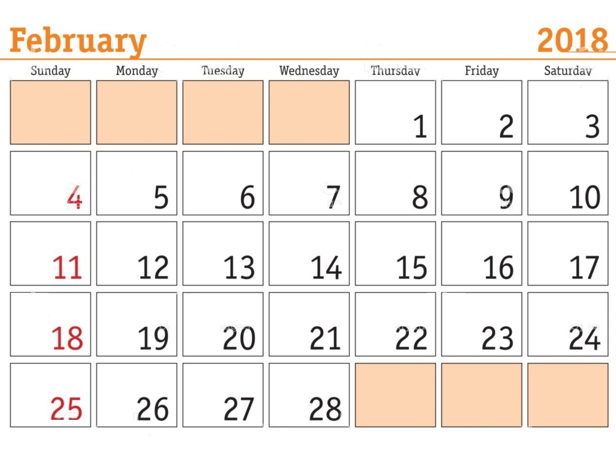 February  Monthly Templates  Calendar    February