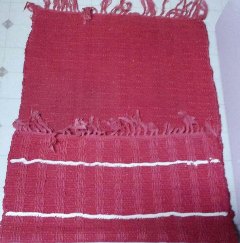 Martha stewarts caulking trick on the backside of rugs to