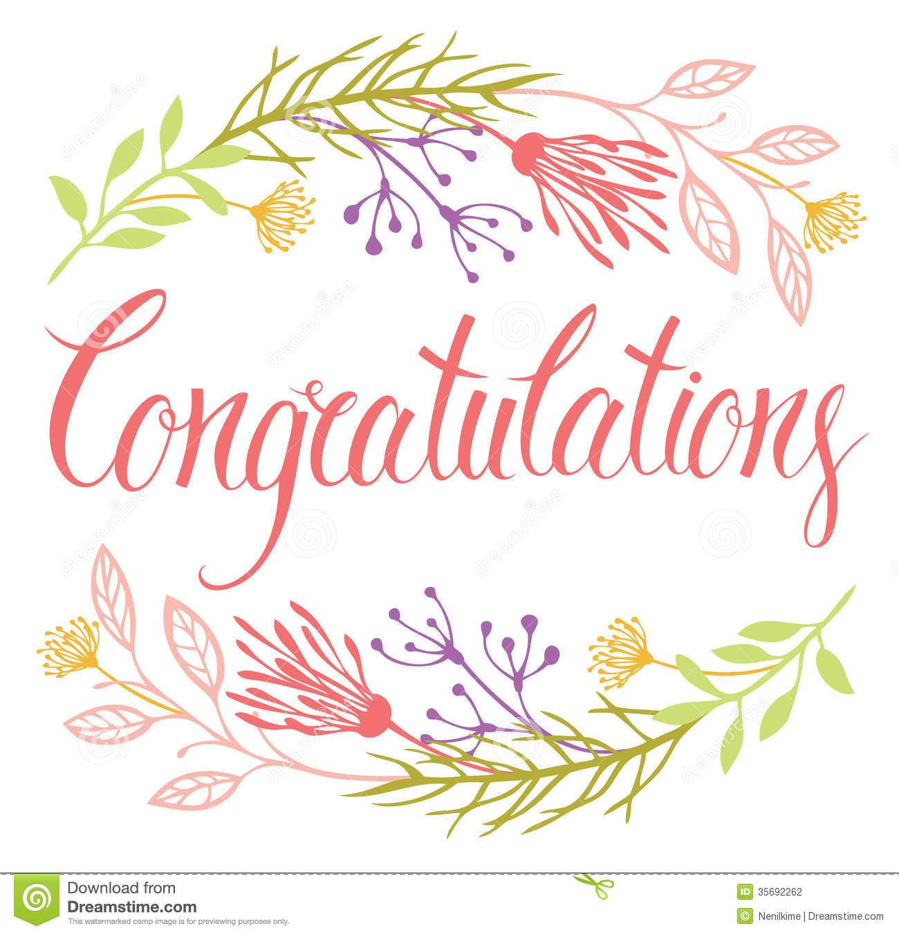 Attractive Congratulations Card With Flowers And Calligraphy   Download From Over 27  Million High Quality Stock Photos  Free Congratulation Cards