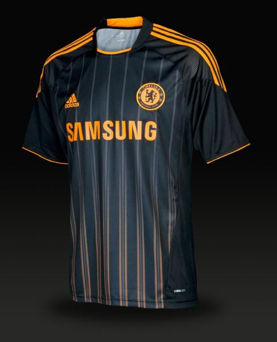3f7b9de6d59 Chelsea Away 10/11 adidas Soccer Jersey - Black/Nu-Orange | Soccer ...
