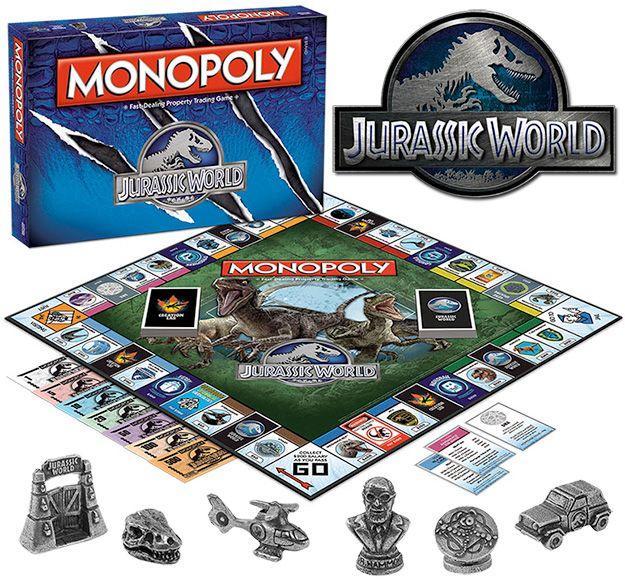 Jogo Monopolio Do Filme Jurassic World O Mundo Dos Dinossauros Blog De Brinquedo Jurassic World Mundo Jurassico Monopolio