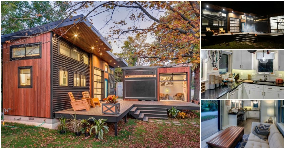 The Amplified Tiny House Is A 400 Square Foot Cozy Paradise Tiny House Community Minimalist House Design Cheap Tiny House