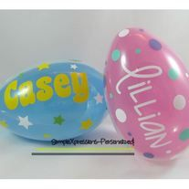 Personalized jumbo plastic easter egg easter basket easter from personalized jumbo plastic easter egg easter basket easter from simplexpressions personalized daycare giftsteacher negle Choice Image