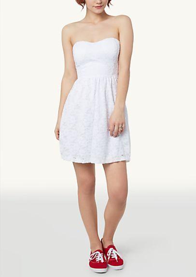 image of Bow Back Lace Tube Dress