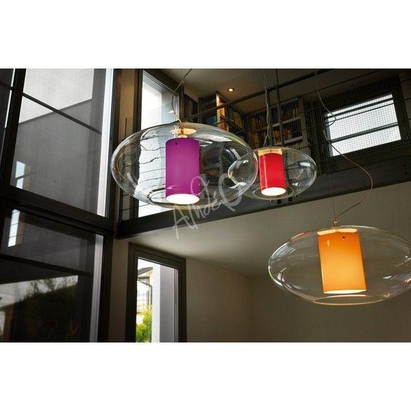 Transparente Ovale Design EllisseLuminaires Suspension Et Modoluce E29DYWHI