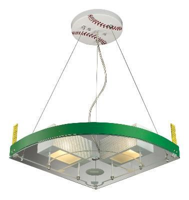 Baseball Ceiling Light Boys Room
