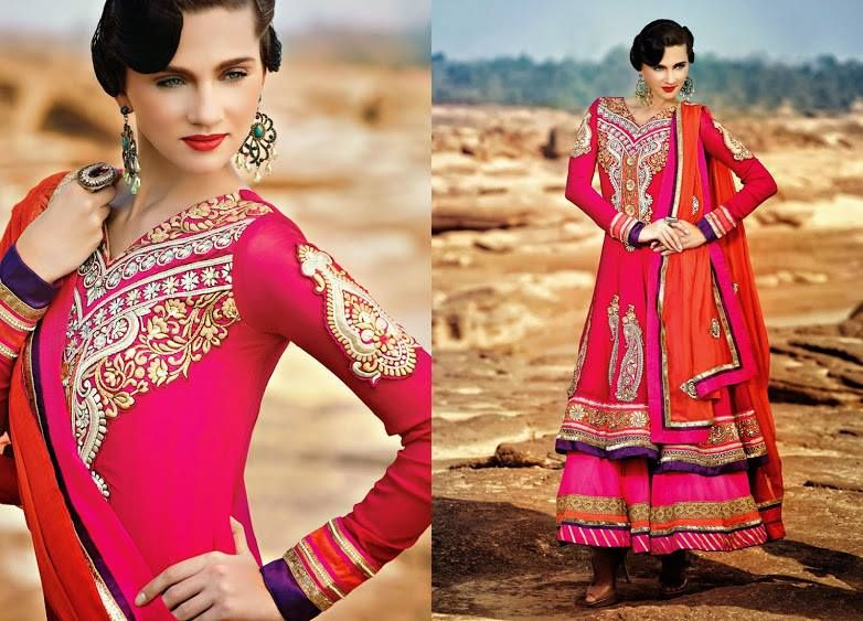 Mehndi Party Dresses 2016 : Beautiful indian party wear anarkali dresses collection 2018 2019