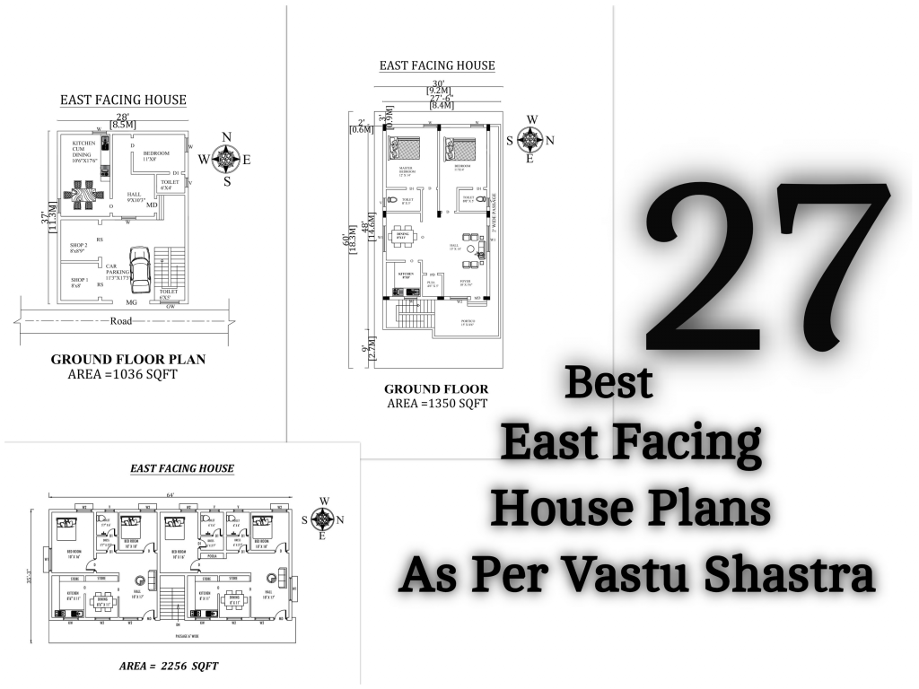 27 Best East Facing House Plans As Per Vastu Shastra Civilengi House Plans How To Plan One Floor House Plans