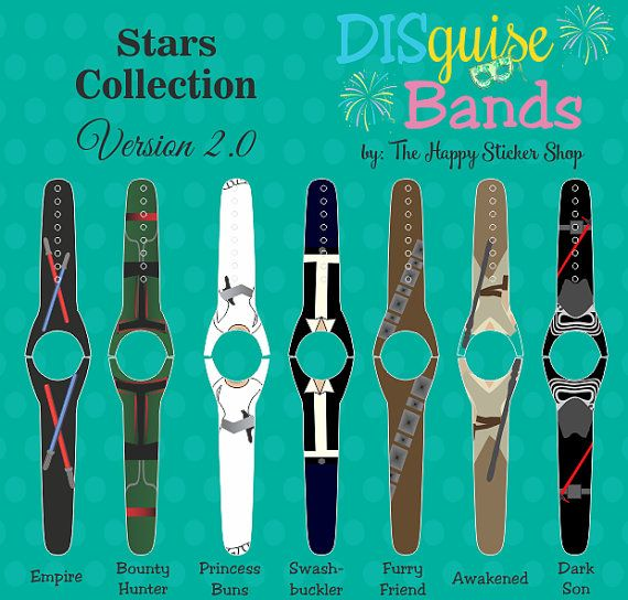 Star wars magic band decals disguise bands by thehappystickershop