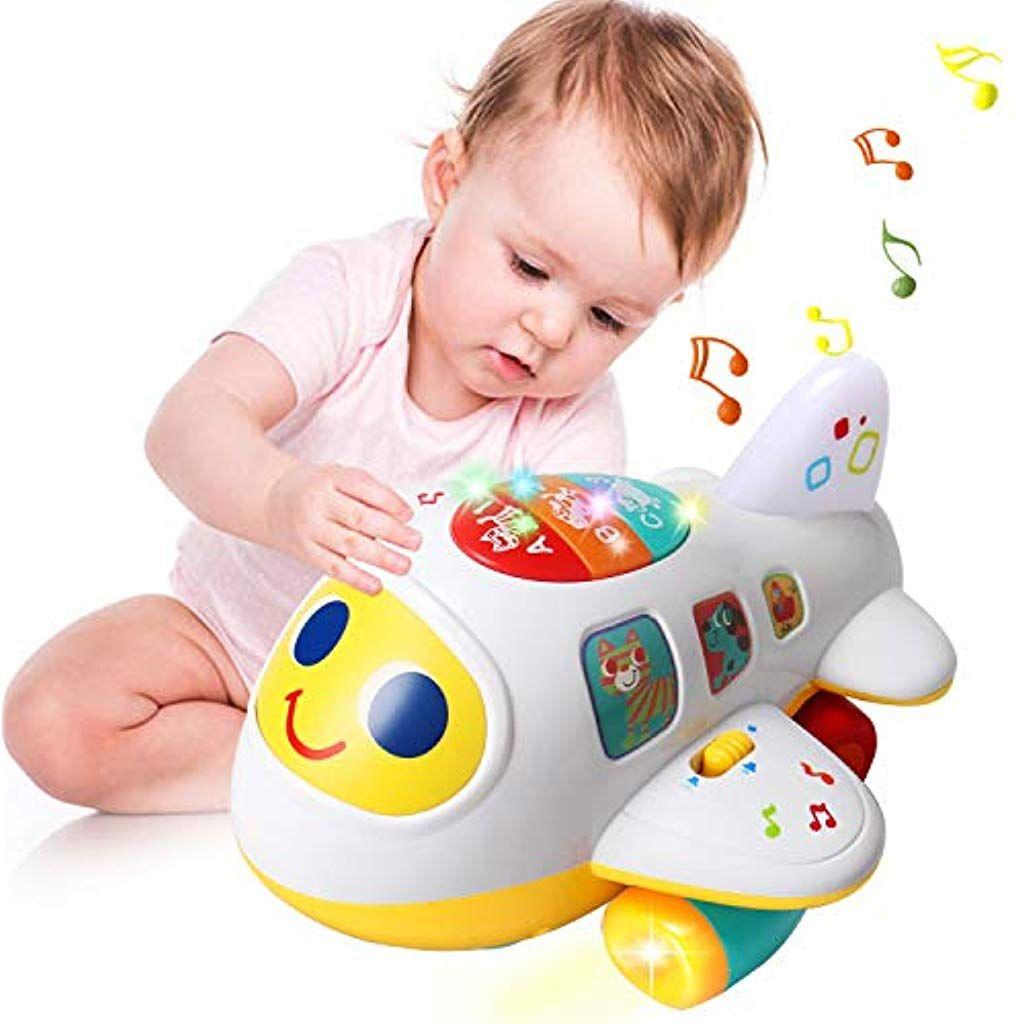 Actrinic Baby Elektronisches Flugzeug Licht Und Musik Padagogisches Spielzeug Fur Kinder Fur Kleinkind Junge Spielzeug Kinder Lernspielzeug Spielzeug Flugzeug