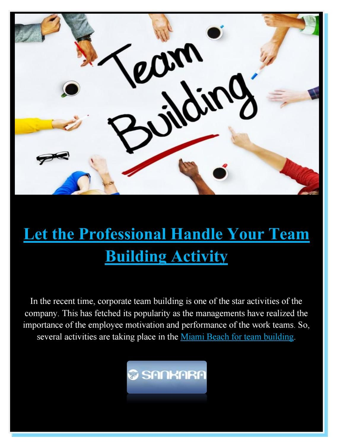 Let The Professional Handle Your Team Building Activity