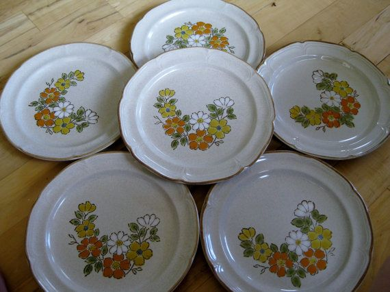 Hearthside Spring Garden Stoneware dinner plates by ChinaGalore, $48.00