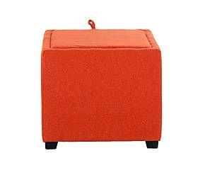 Пуф Harold - текстиль - оранжевый - В37