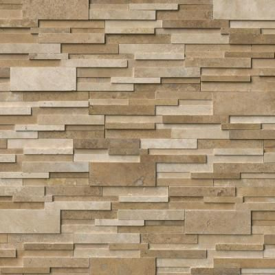 Msi Casa Blend 3d Ledger Panel 6 In X 24 In Honed Natural Travertine Wall Tile 10 Cases 80 Sq Ft Pallet Tcasble624 3dh Travertine Stone Veneer Panels Stone Panels