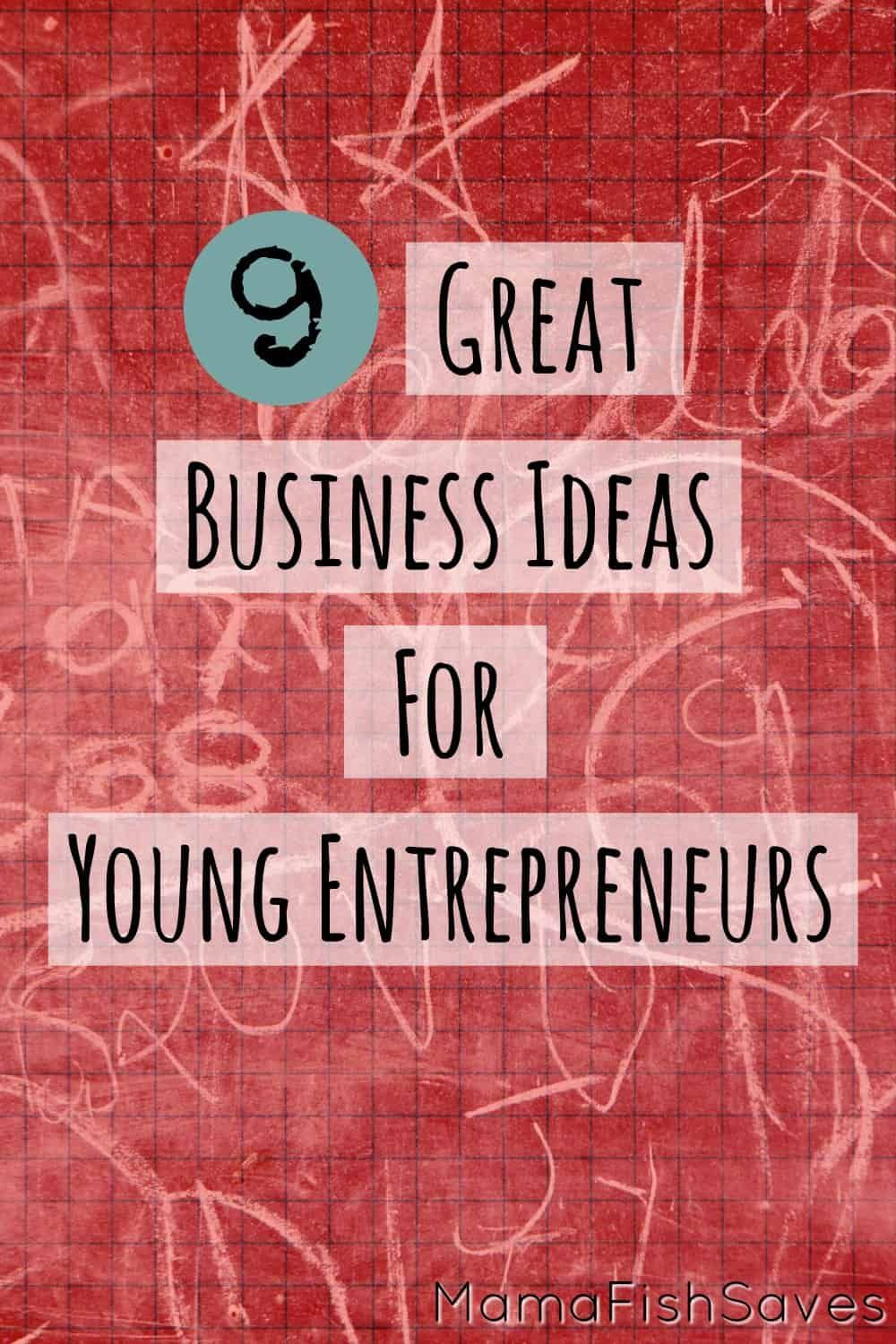 9 Great Business Ideas For Young Entrepreneurs Great Business