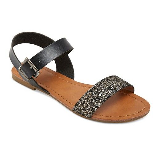 Women's Lakitia Glitter Straps Quarter Strap Sandals - Mossimo Supply Co.™ : Target