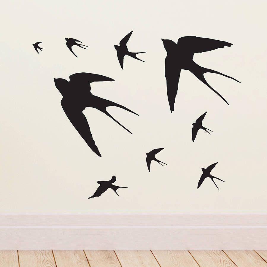 Swallow Stencil For Wall Interior Design Decorating Ideas