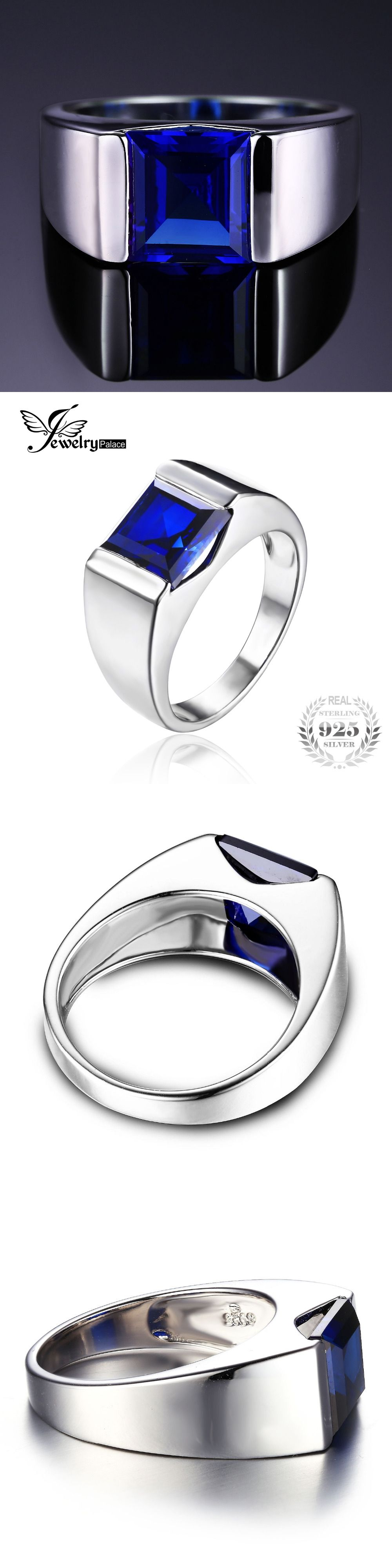 natural amazon sterling sapphire jewelry ring silver available to sizes com letsbuysilver dp real womens cluster blue