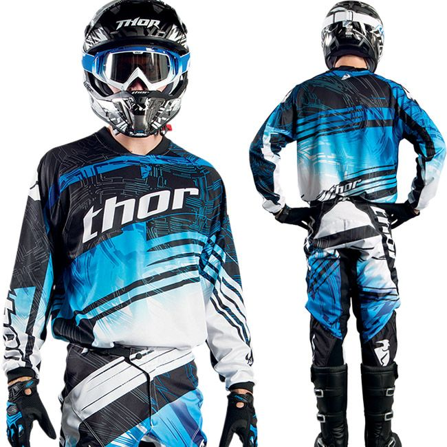 equipement tenue thor mx 2014 motocross phase swipe blue jjj pinterest crosses thor. Black Bedroom Furniture Sets. Home Design Ideas