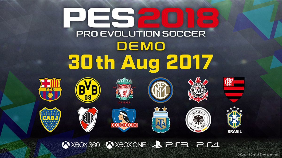 A demo version of PES 2018, winner of the Best Sports Game
