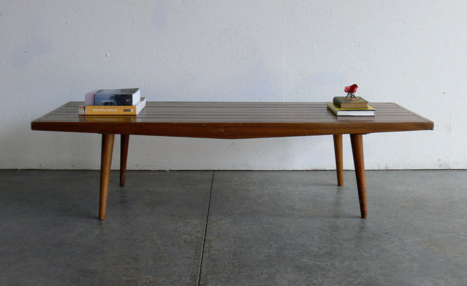 vintage mid century modern coffee table bench coffee. Black Bedroom Furniture Sets. Home Design Ideas