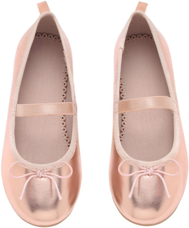 91484d797bf2 H M - Ballet Flats with Strap - Rose gold-colored - Kids. H M - Ballet  Flats with Strap - Rose gold-colored - Kids Little Girl Shoes