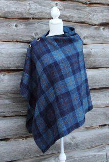 45a2c80c365f Harriet Hoot Harris Tweed Poncho Robe Blouse, Coudre, Mode Tartan, Vêtement  Harris Tweed