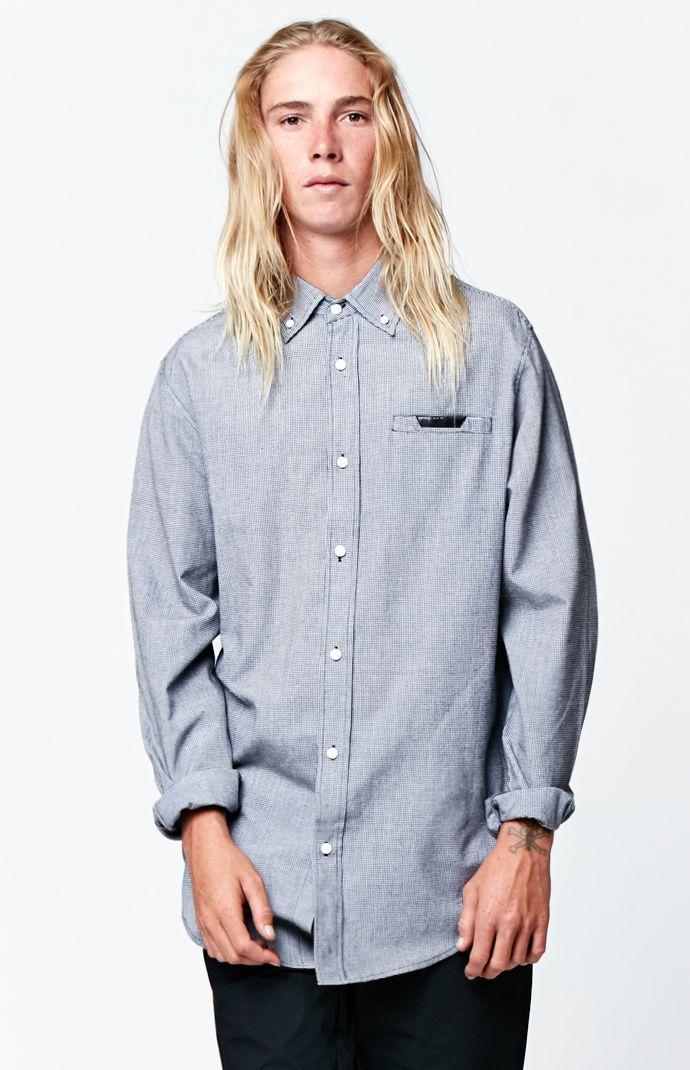 Illusion Drop-Tail Long Sleeve Button Up Shirt