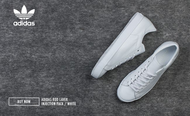 brand new 84b43 3adaf adidas Originals drops heat with the latest renditions of the classic Rod  Laver Injection Pack. Coming in two simple and timeless colourways, all  black and ...