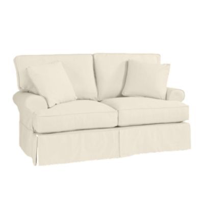 family outstanding couch white piece loveseat homes slipcover idea slipcovers