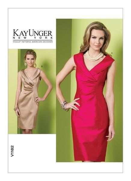 Vogue Sewing Pattern by Kay Unger - V1182 Misses\' Dress … WeaverDee ...