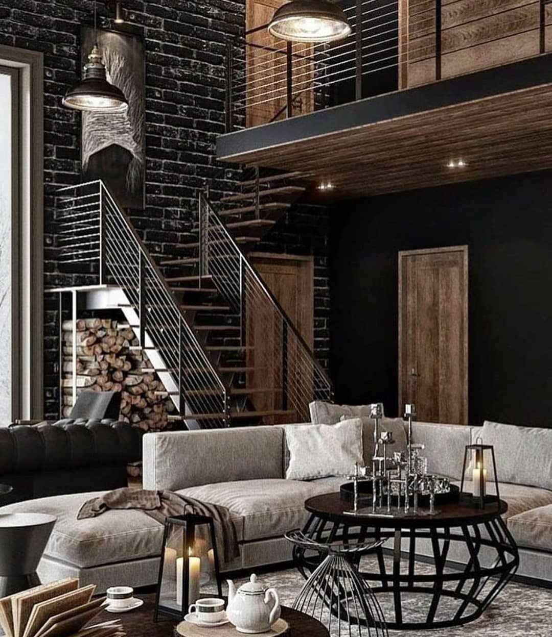 innovative industrial interior design bedroom ideas | #houseofvdm #love | Industrial chic decor, Industrial ...