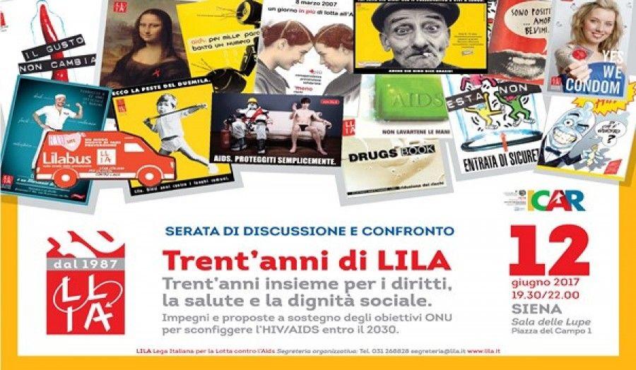 Trent'anni di LILA - Trent'anni insieme per i diritti, la salute e la dignità sociale