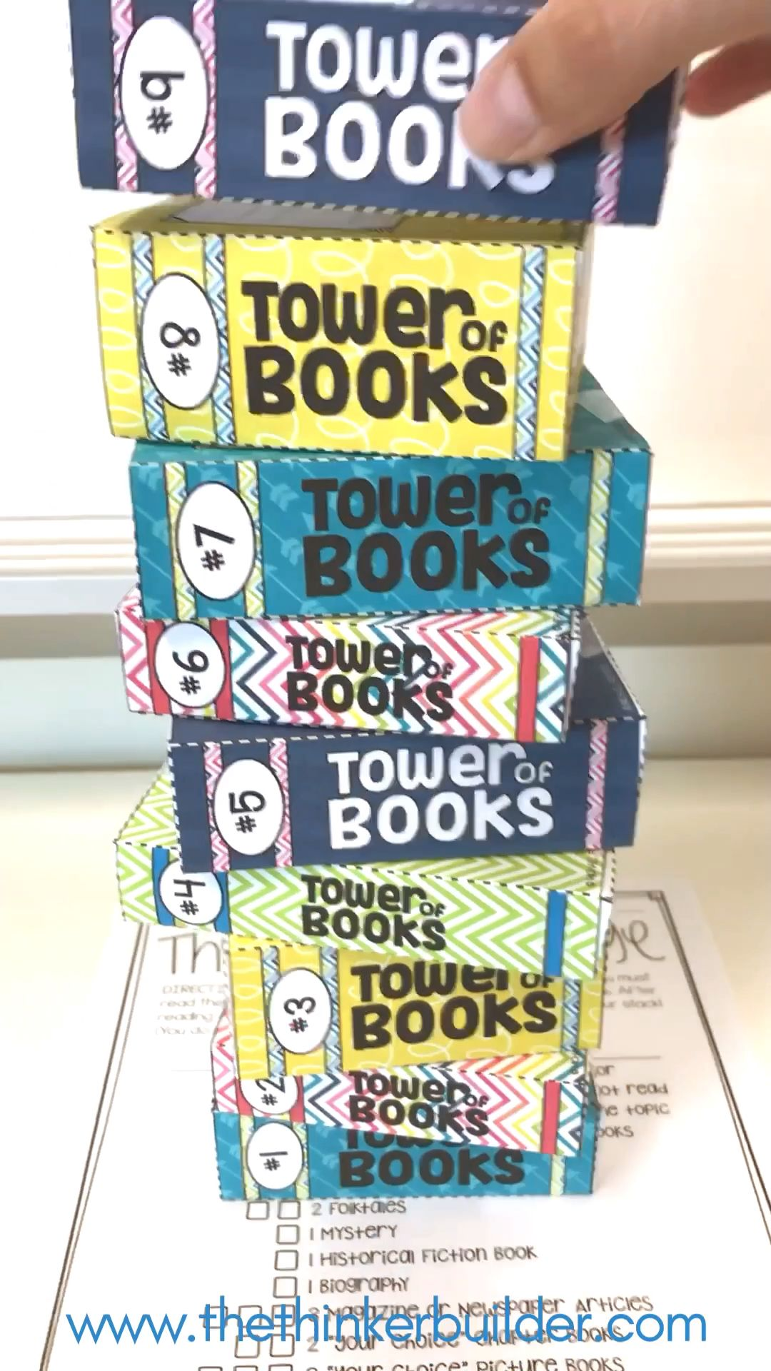 The Tower of Books Reading Challenge