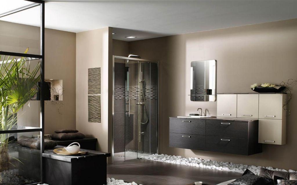 Meuble Salle De Bain Moderne Chêne Anthracite Delpha SDB - Meuble de salle de bain delpha pour idees de deco de cuisine