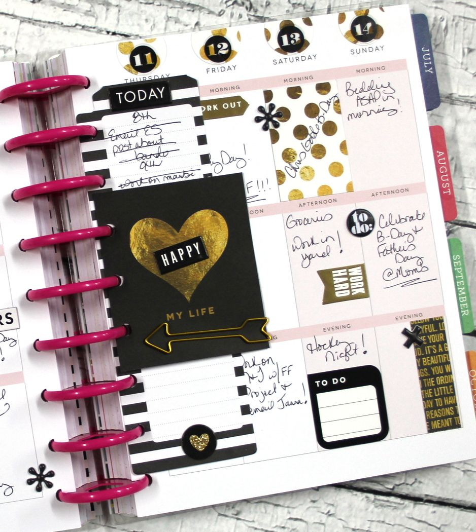 The happy planner black gold planners and happy planner for Planners anonymous