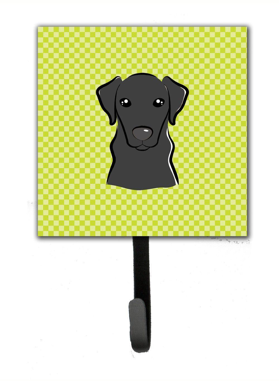 Checkerboard Lime Green Black Labrador Leash or Key Holder BB1297SH4