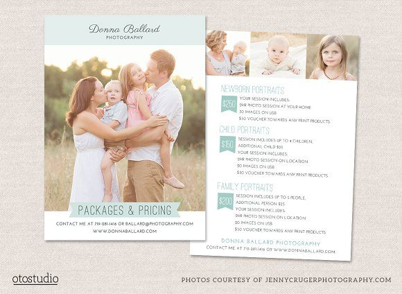 Photography Flyer Pricing Guide by OtoStudio on @creativemarket ...