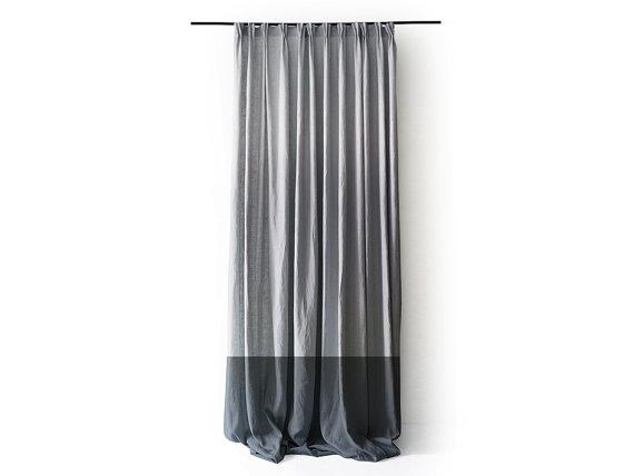 For Wardrobe Closet Linen Window Curtains Gathered Pinch
