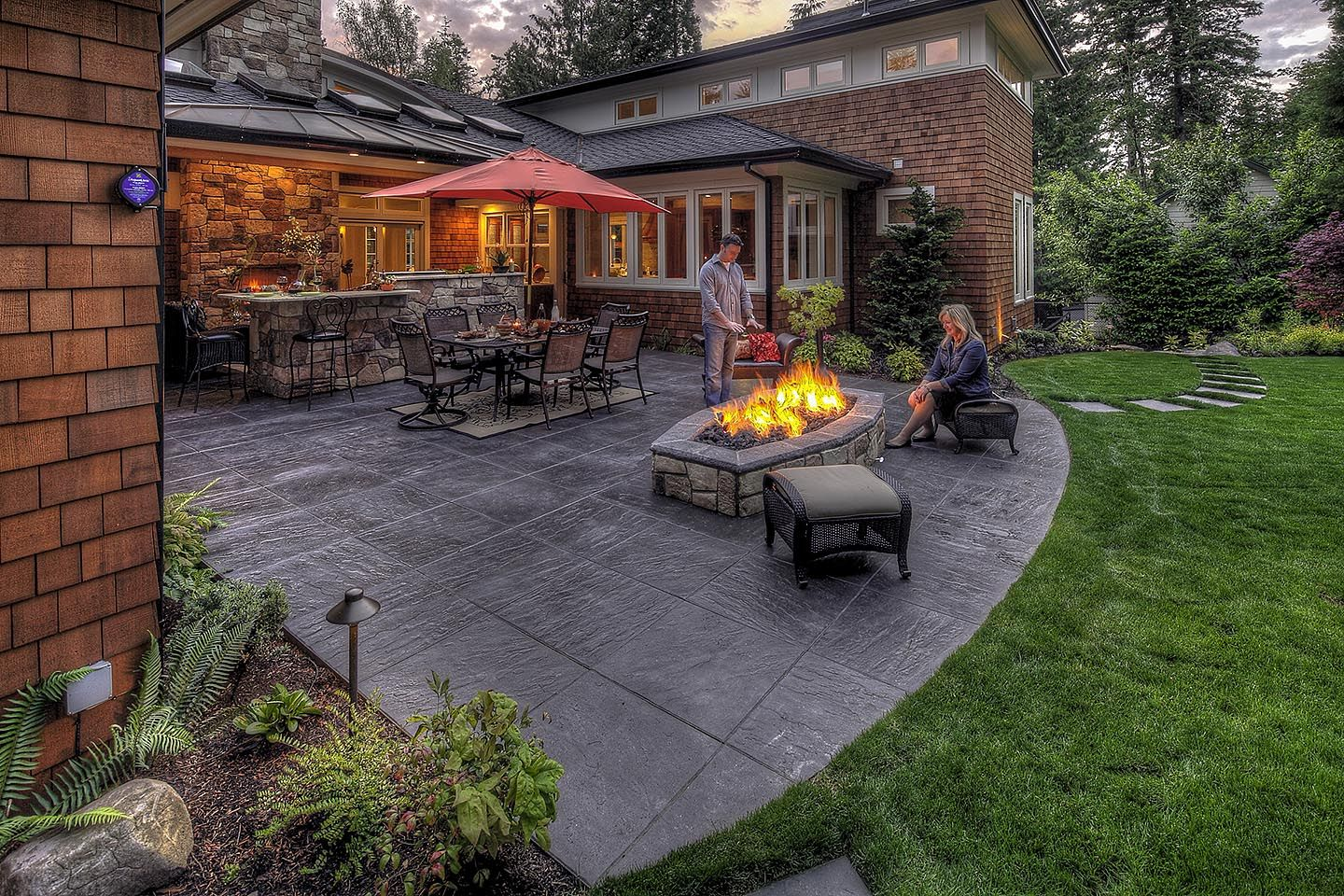 Fire Pits- Wood-burning or Gas - Paradise Restored Landscaping