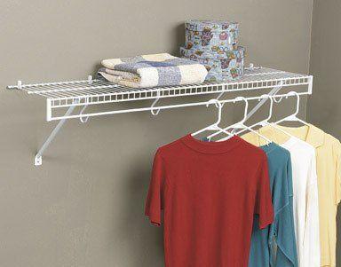 Rubbermaid 3d4800wht Freeslide Closet Shelf Kit 4 Feet White