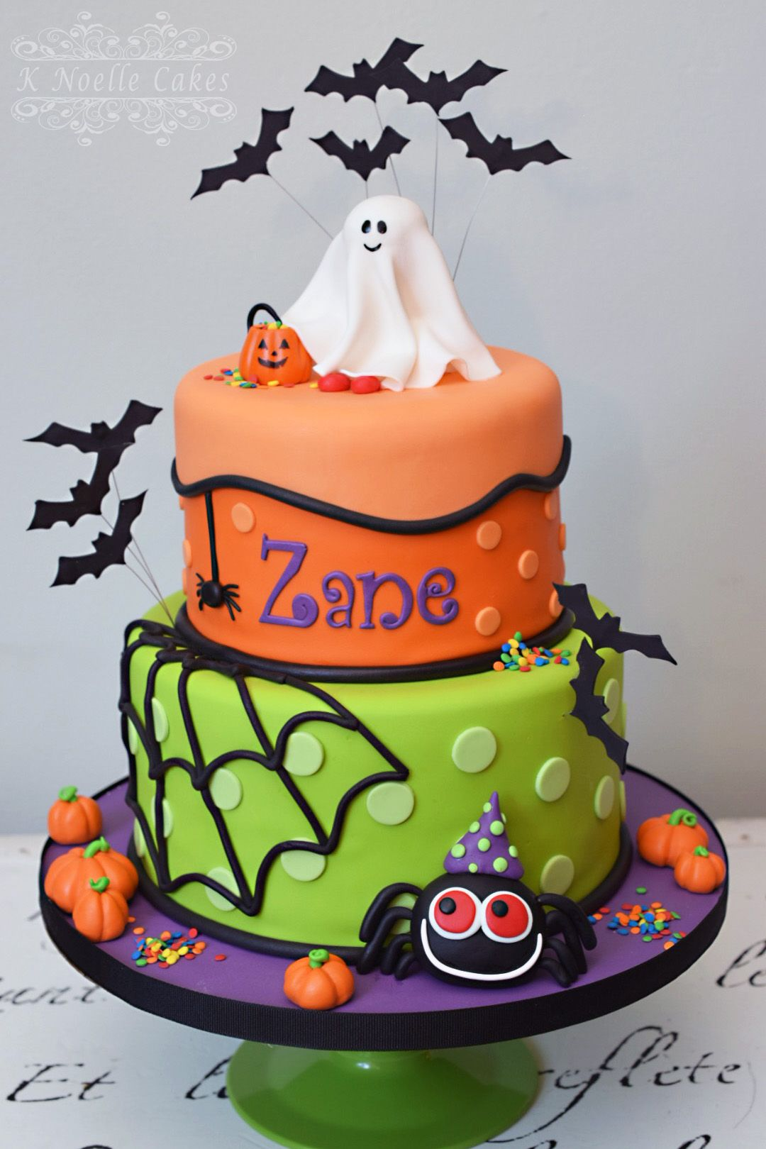 Pleasing Halloween Theme Birthday Cake By K Noelle Cakes With Images Personalised Birthday Cards Petedlily Jamesorg