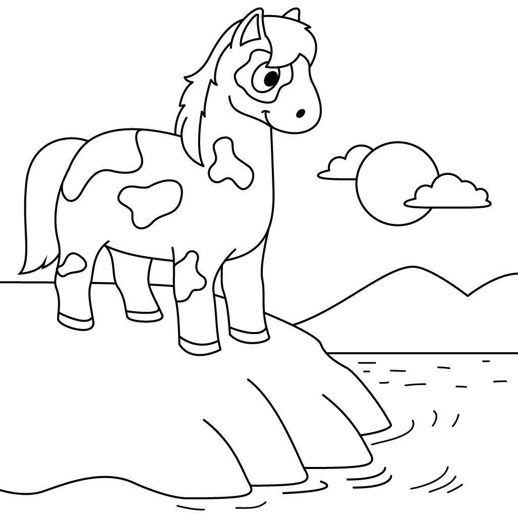 Horses, ponies, unicorns - pick your favorite and get busy coloring ...
