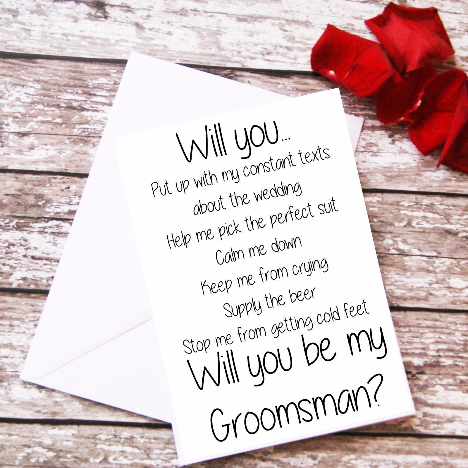 Will You Be My Groomsman Questions Card Proposal Wedding