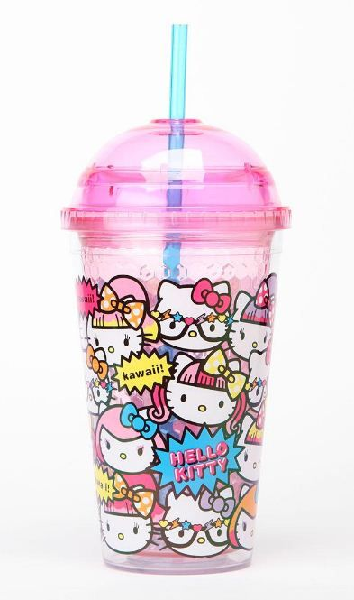 HELLO KITTY SANRIO Cold Cup Tumbler Dome Limited Edition From CAFE AMAZON