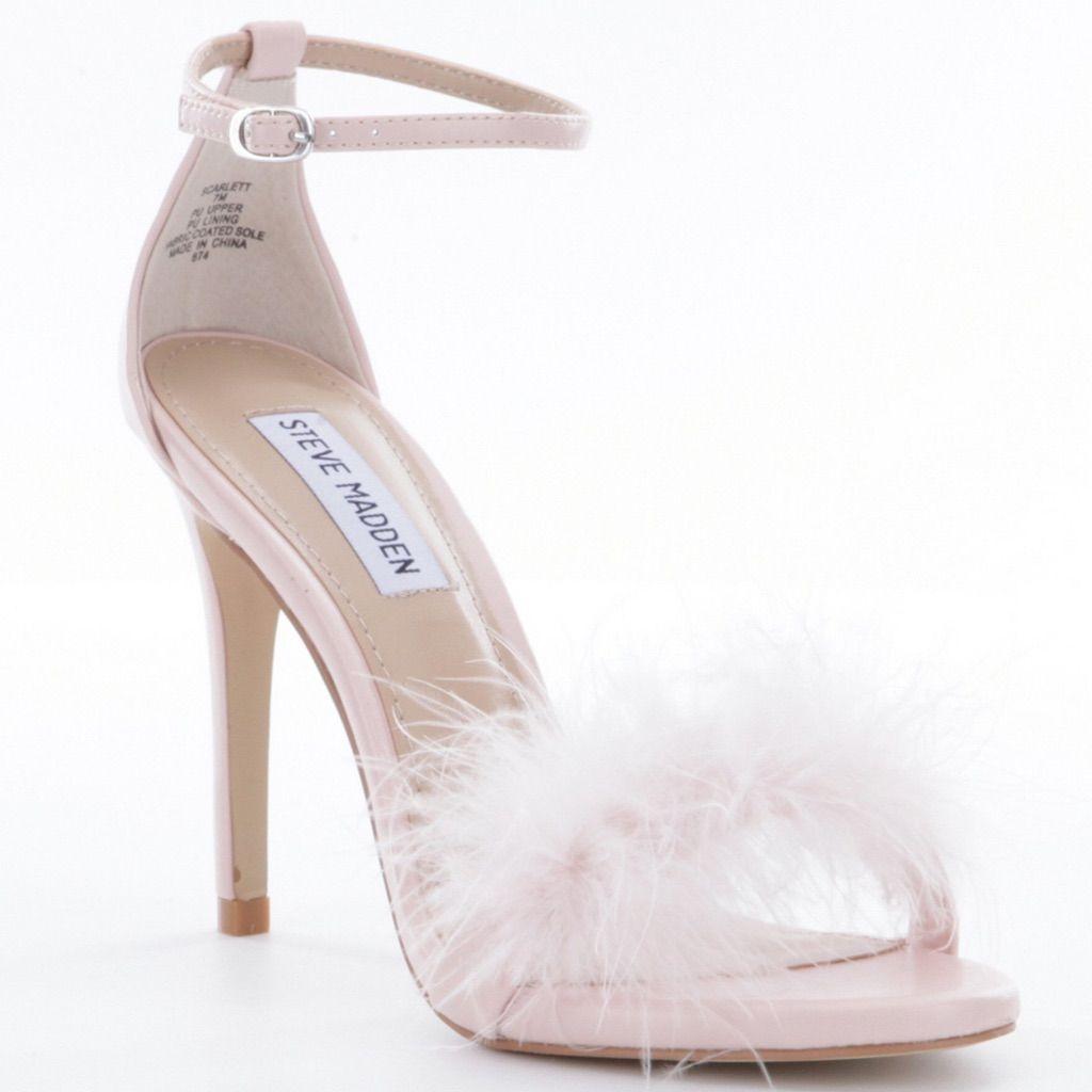 Steve Madden pink feather heels