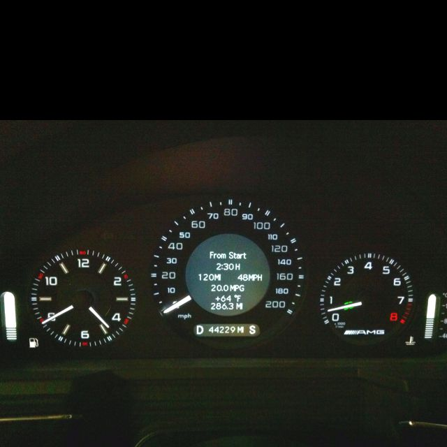 CLS63 AMG instrument cluster installed in an E55 AMG