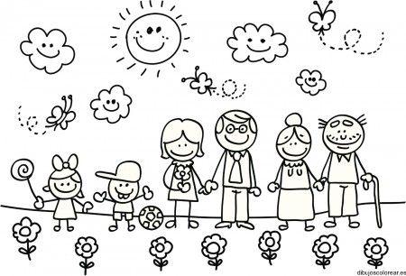 Dibujos Para Colorear Del Medio Ambiente 2 La Familia Familia